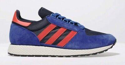 Adidas forest Grove UK Size 9 Blue and orange RRP £70 (Orange Grove)