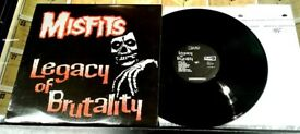 Misfits - Legacy of Brutality, NM, first pressing, released on Plan 9 ‎in 1985, Punk Vinyl Record
