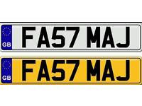 FAST MAJ - MAJID MAJEED A VERY SPECIAL NAME ON A PRIVATE NUMBER PLATE FOR SALE