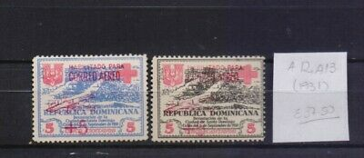 ! Dominican Republic 1931. Air Mail Stamp. YT#A12, A13. €37.50!