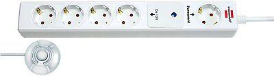 Brennenstuhl Eco-Line Comfort Switch, Steckdosenleiste 5-fach mit Fußschalter