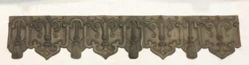 French Decorative Embossed Tin Trim Panel, Ca 1870