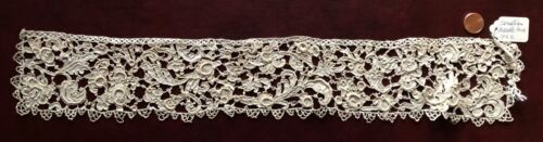 17th C. Point de Venise needle lace edging - Italian