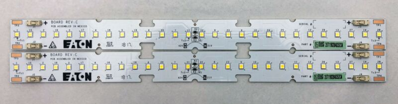 LOT of 2 | Eaton 2UT119028A8352CM LED PCB w/28 LEDs per board 21V (1 x 12 Inch)