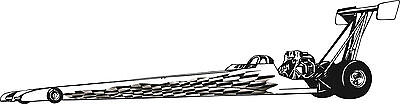 Racing Checkered Flag Race Jr. Dragster Graphics Decal Decals NHRA IHRA stickers