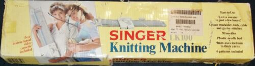 NEW IN BOX SINGER LIGHT KNITTER MODEL LK100 KNITTING MACHINE W/ TOOLS & BOOKLET
