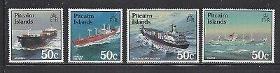 PITCAIRN ISLANDS - 281 - 284-  MNH -1987 - PITCAIRN BOATS