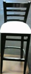 NEW Bar Stool - Wooden Leather or Faux Seat Cushion Bar Stool