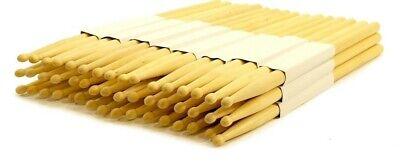 24 PAIRS - 2B WOOD TIP NATURAL MAPLE DRUMSTICKS PRO 48 DRUM STICKS NEW