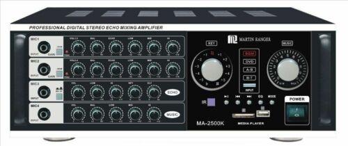 Martin Ranger MA-2500K 1000W Professional Mixing Amplifier W/ Bluetooth