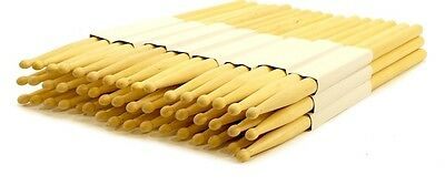 12 PAIRS - 5B WOOD TIP NATURAL MAPLE DRUMSTICKS PRO 24 DRUM STICKS NEW