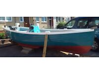 18FT GRP BEACH BOAT WITH DRIFT NET & INFLATABLE TENDER