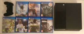 PS4 BUNDLE - FIFA 18, BATTLEFIELD 1 AND MORE