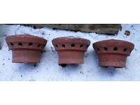 3 cowls terracotta .used for sale for use or garden display