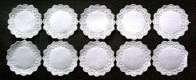 10 Deckchen Zierdeckchen Papierspitze Namenskärtchen 5,5 cm