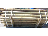 """5ft 6"""" Round Fence Posts 100mm"""