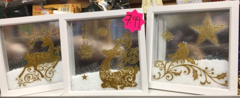 Christmas 3D box frames £7.99 each
