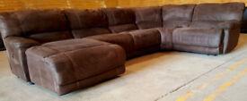 Harveys Extra Large Recliner Corner Sofa Suede - Chocolate. Can deliver