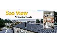 Sea View Caravan Holidays at Pendine Sands from £125 for short breaks from £300 per week