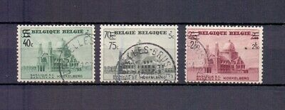 BELGIUM 1938 Koekelberg overprint set fine used 481/483