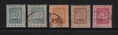 British Guiana - #107-108, #110-111, cat. $ 27.85