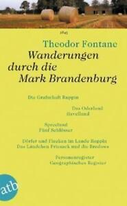 Wanderungen durch die Mark Brandenburg von Theodor Fontane 5 Bände im Schuber