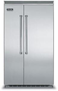 "VIKING 48"" Side-by-Side Refrigerator/Freezer - Stainless Steel"