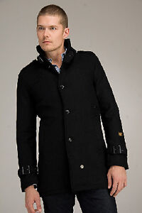 MENS G-STAR RAW WOOL COAT SIZE XL SLIM FITTED