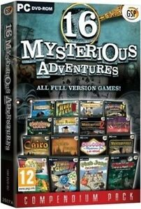 16 MYSTERIOUS ADVENTURES - HIDDEN OBJECT, MAHJONG GAMES + MORE - NEW