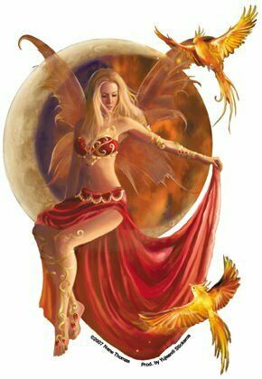 NENE THOMAS - FIRE MOON FAIRY - STICKER WEATHER RESISTANT EXTRA LONG LASTING NEW