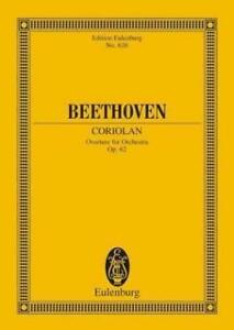 Beethoven Coriolan Overture für Orchester Op. 62 Taschenpartitur Eulenburg 626
