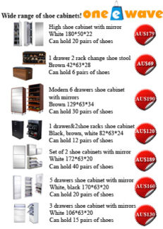 Wide Range of Brand New Stylish Shoe Cabinets with Mirrors Alexandria Inner Sydney Preview