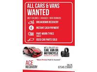 scrap and unwanted cars and vans wanted cash waiting