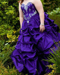 Ball Gown Purple Grad Dress
