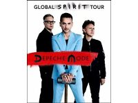 2 Depeche Mode standing tickets - June 3rd in London (including Missed Event Ticket Insurance £9.30)