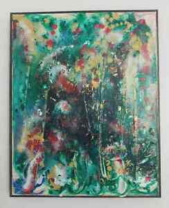 16 x 20 Kate Reid original colour abstract painting on canvas.