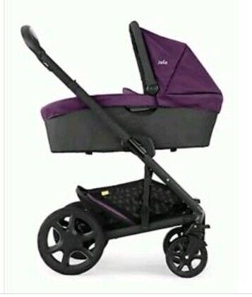 Joie chrome damson pram, pushchair + car seat used for 6 months