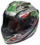 Green Full Face Motorcycle Helmet