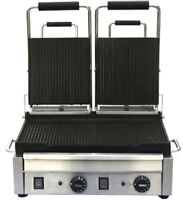 Omcan - Double ribbed panini grill