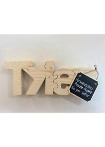Personalized Wooden Puzzles & benches