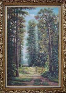 old framed oil paintings
