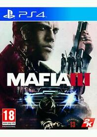 Mafia 3. Ps4 game. Excellent condition.