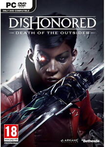 Sealed box copy of Dishonored Death of the Outsider for PC