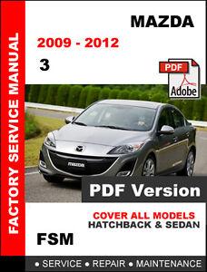 mazda 3 service manual   ebay