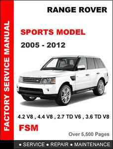 land rover range rover sport 2005 2012 factory service. Black Bedroom Furniture Sets. Home Design Ideas