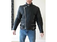 """Leather Motorcycle Jacket Size 40"""" Excellent Condition"""