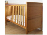 Mamas & Papas Cot Bed - Oak