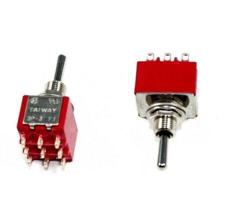 3PDT, ON/OFF/ON, Minature Toggle Switch,