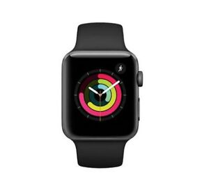 New Apple Watch 3 42 MM  GPS + Cell Space Grey  Black Band