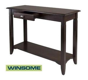 """NEW* WINSOME NOLAN CONSOLE TABLE - 109279735 - CONSOLE TABLE ESPRESSO FINISH - 40""""L X 16""""W X 30"""" H"""